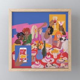 Meal Framed Mini Art Print