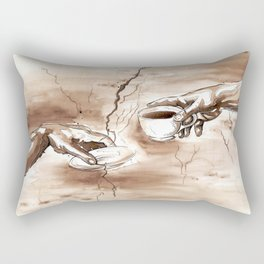 The Creation of Coffee Rectangular Pillow
