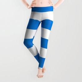 Microsoft Edge blue - solid color - white stripes pattern Leggings