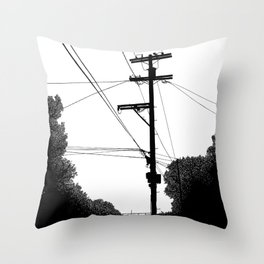 Power Lines at the bluff Throw Pillow