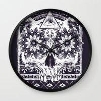 lotus Wall Clocks featuring Lotus by Tshirt-Factory