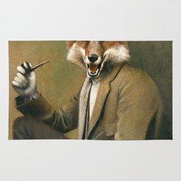 Vintage Fox In Suit Rug