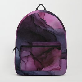 Abstract Ink Painting Ethereal Flowing Watercolor Nebula Backpack