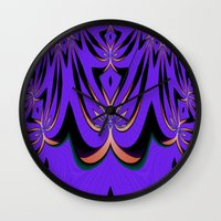 aliens Wall Clocks featuring Aliens... by Cherie DeBevoise