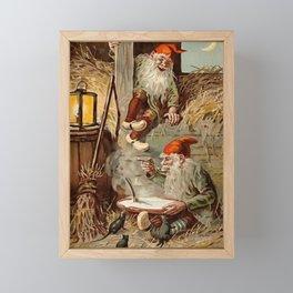 """In the Barn"" by Jenny Nystrom Framed Mini Art Print"