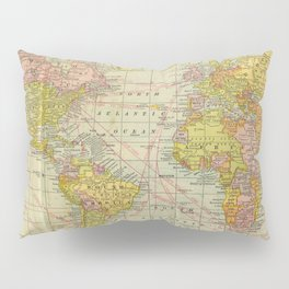 Vintage Map of The World (1909) Pillow Sham