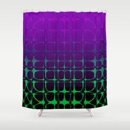 Gradient Bubble Pattern (Purple/Green) Shower Curtain