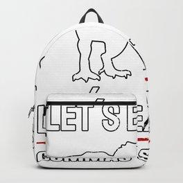Lets Eat Kids Commas Saves Lives Backpack