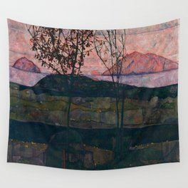 "Egon Schiele ""Setting Sun"" Wall Tapestry"
