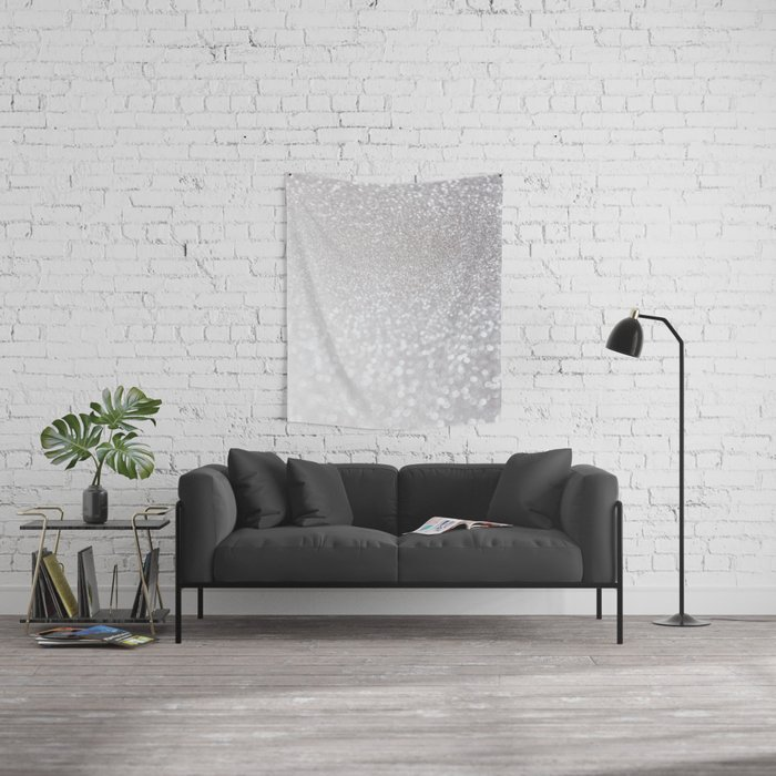 Silver ice - glitter effect- Luxury design Wall Tapestry
