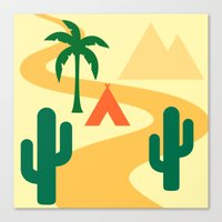 camping Canvas Prints featuring Camping by Mr and Mrs Quirynen
