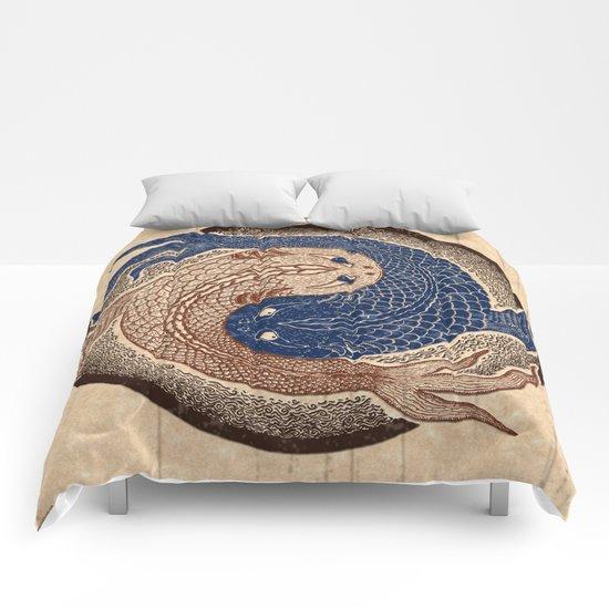 shuiwudáo yin yang mandala Comforters