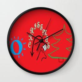 American Sign Language O Christmas Tree Wall Clock