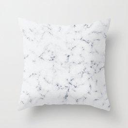 Baesic White Marble Texture Throw Pillow