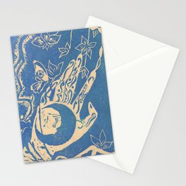 Show me how to live in blue Stationery Cards