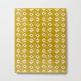 Broken Triangles in Gold Metal Print