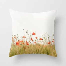 Poppies Coquelicots Throw Pillow