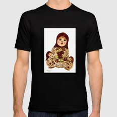 Russian dolls 2 / warmer colors  Mens Fitted Tee MEDIUM Black