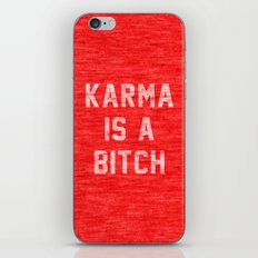 Karma is a Bitch iPhone & iPod Skin