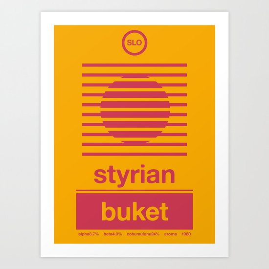 styrian buket single hop Art Print