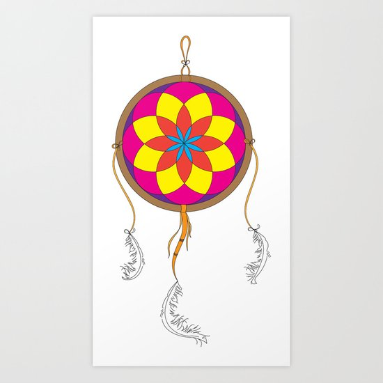 Dream Catcher Colour Art Print