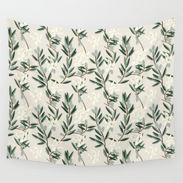 OLIVE BLOOM Wall Tapestry