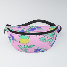 Pattern whit lemon and olive. Fanny Pack
