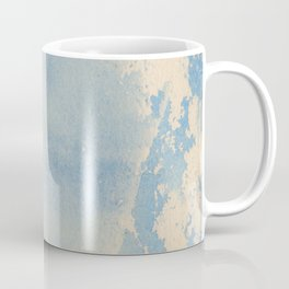 Vintage chic pastel blue ivory watercolor paint texture pattern Coffee Mug