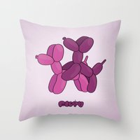 floyd Throw Pillows featuring Floyd Balloons by Elle Moz