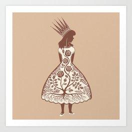 Rose Princess Art Print
