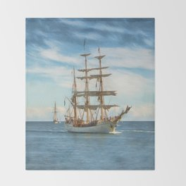 Sailing Grace Throw Blanket