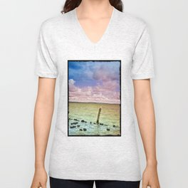 Bird on a post Unisex V-Neck