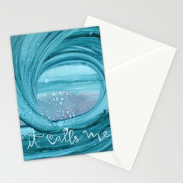 It Calls Me Wave Stationery Cards