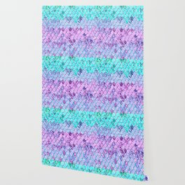 Mermaid Scales with Unicorn Girls Glitter #9 #shiny #decor #art #society6 Wallpaper