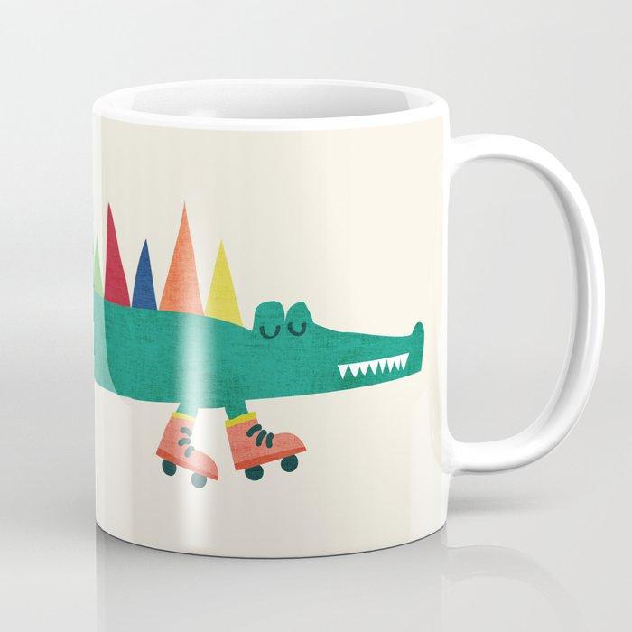Crocodile on Roller Skates Coffee Mug