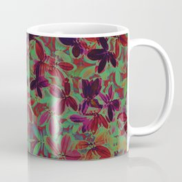 Flora Celeste Purple Agata Leaves   Coffee Mug