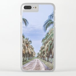 Costa Rican Palms Clear iPhone Case