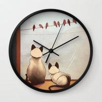 friendship Wall Clocks featuring Friendship by Naomi VanDoren