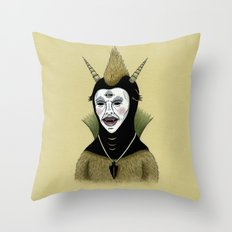 Creature with Black Amulet  Throw Pillow