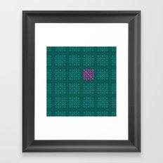 Tic Tac Toe Pattern Framed Art Print