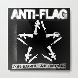ANTI FLAG FOR BLOOD AND EMPIRE TOUR DATES 2019 BAKPAU Metal Print