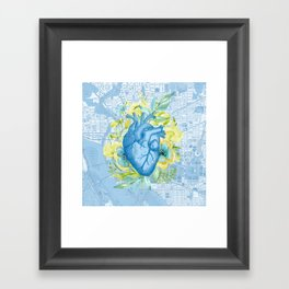 The Way to Her Heart Framed Art Print