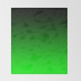 Black Lime Green Neon Nights Ombre Throw Blanket