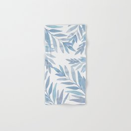 Muted Blue Palm Leaves Hand & Bath Towel