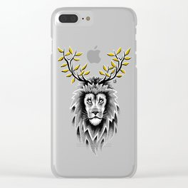 Deer Lion Clear iPhone Case