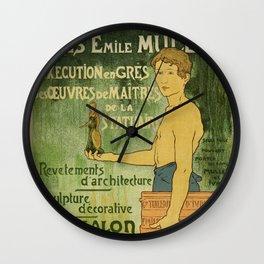 Emile Muller ceramist Paris Wall Clock