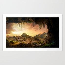 Sunset cave Art Print
