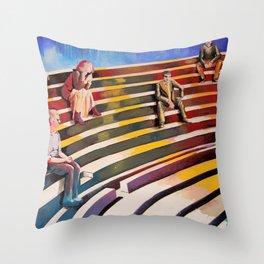 Officina di Faust Throw Pillow