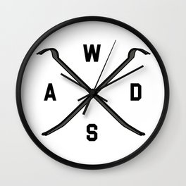 Gamer WASD Wall Clock