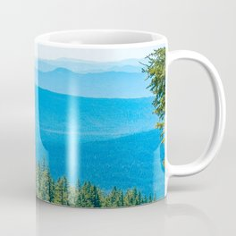Artistic Brush // Grainy Scenic View of Rolling Hills Mountains Forest Landscape Photography Coffee Mug